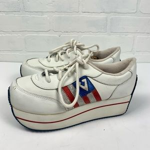 Vintage Volatile 90s Independence Style Chunky Platform Sneakers Y2K Shoes